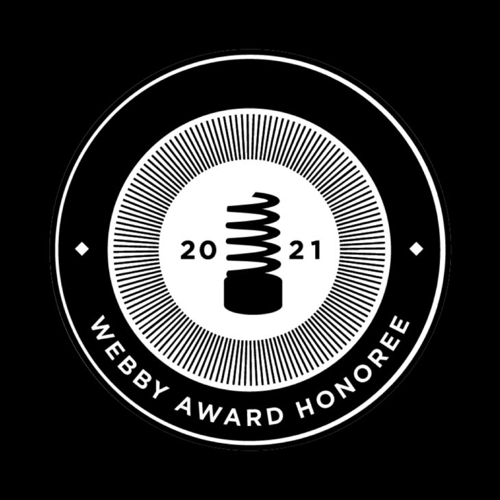 We are an official Webby Honoree in the 25th annual Webby Awards!