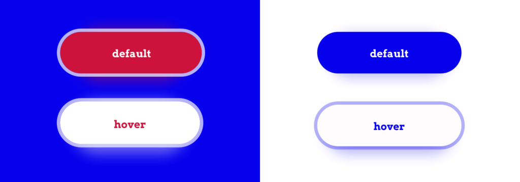 Example button links with high contrast